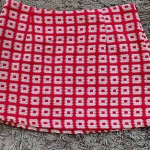 Red and white checked forever 21 mini skirt